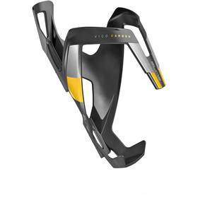 Elite Vico Bottle Holder Carbon, black matte/yellow design